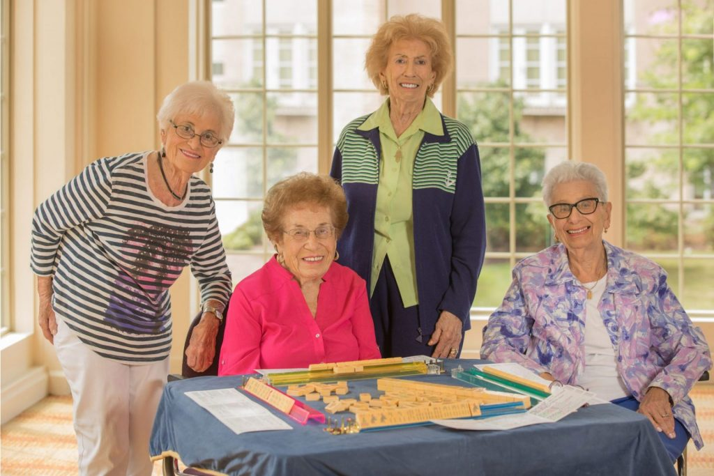 Female Residents playing a game together