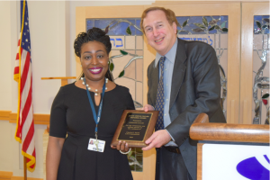Stephanie Taylor receives the Jackie Greene Fischer Award